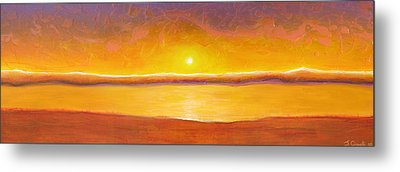 Gold Sunset Metal Print by Jaison Cianelli