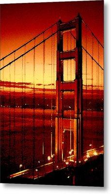 Golden Gate Bridge Metal Print by Gene Sizemore