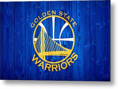 Golden State Warriors Door Metal Print