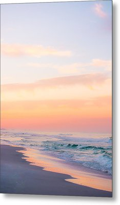 Golden Sunrise In Seaside Metal Print by Shelby Young