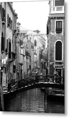 Gondola Ride In Venice Metal Print