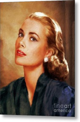 Grace Kelly, Actress And Princess Metal Print by Mary Bassett