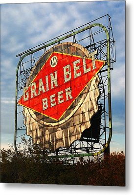 Grain Belt Beer Sign Metal Print