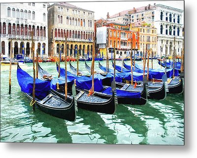 Metal Print featuring the photograph Grand Canal In Venice by Mel Steinhauer