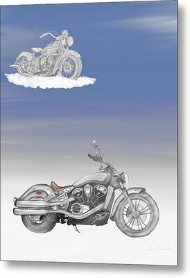 Metal Print featuring the drawing Grandson by Terry Frederick