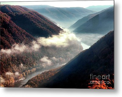 Grandview New River Gorge Metal Print by Thomas R Fletcher