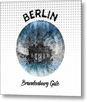 Graphic Art Berlin Brandenburg Gate Metal Print