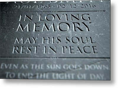 Gravestone In Loving Memory Metal Print