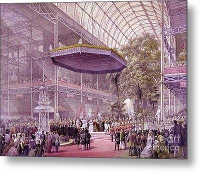 Great Industrial Exhibition Opening Metal Print