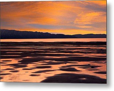 Great Salt Lake Sunset Metal Print by Utah Images