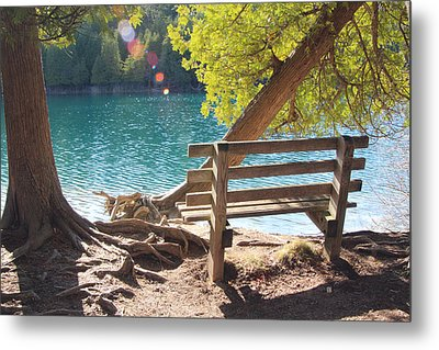 Green Lakes Metal Print by David Stasiak