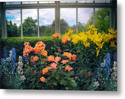 Greenhouse Garden Metal Print by Jessica Jenney