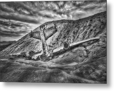 Grounded Plane Wreck Metal Print