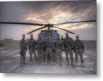 Group Photo Of Uh-60 Black Hawk Pilots Metal Print