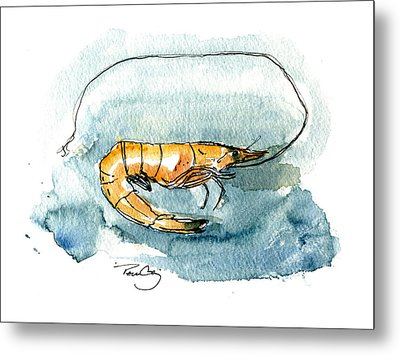 Gulf Shrimp Metal Print by Paul Gaj