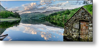 Gwynant Lake  Metal Print by Adrian Evans