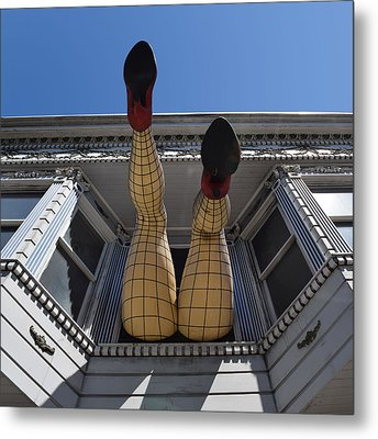 Haight And Ashbury Legs Metal Print by Dany Lison
