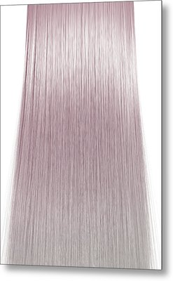 Hair Perfect Straight Metal Print by Allan Swart