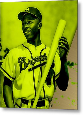 Hank Aaron Collection Metal Print by Marvin Blaine
