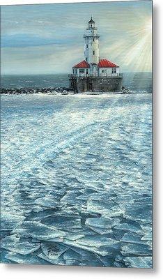 Harbor Light Metal Print by Doug Kreuger