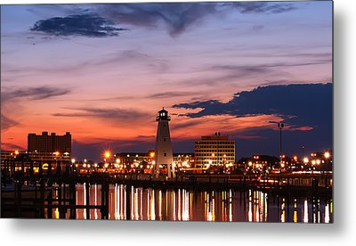 Harbor Lights Metal Print by Brian Wright