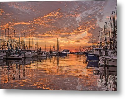 Harboring Reflections Metal Print by Brian Wright