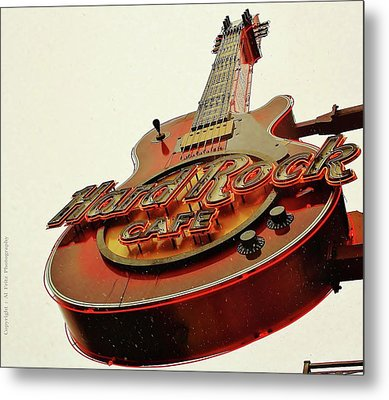 Metal Print featuring the photograph Hard Rock Cafe' by Al Fritz