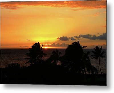 Metal Print featuring the photograph Hawaiian Sunset by Anthony Jones