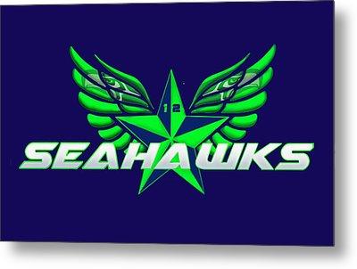 Hawks Wings Metal Print