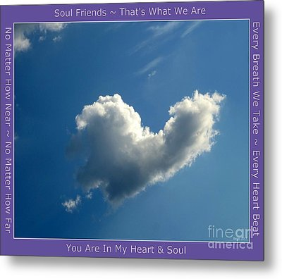 Heart Cloud Sedona Metal Print by Marlene Rose Besso