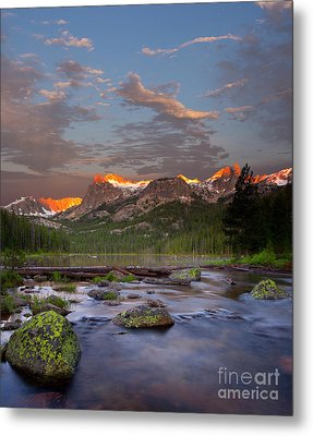 Hell Roaring Lake Metal Print