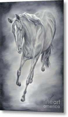 Metal Print featuring the painting Here She Comes by Cathy Cleveland