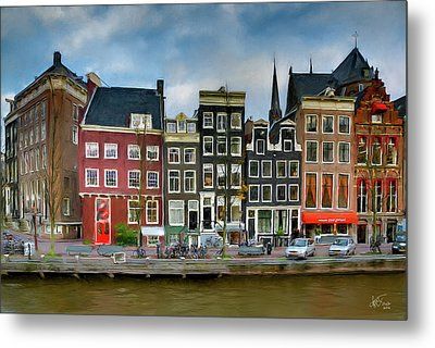 Metal Print featuring the photograph Herengracht 411. Amsterdam by Juan Carlos Ferro Duque