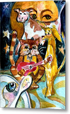 Hey Diddle Diddle Metal Print by Mindy Newman