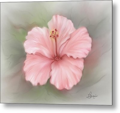 Metal Print featuring the painting Hibiscus  by Bonnie Willis