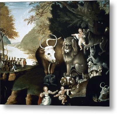 Hicks: Peaceable Kingdom Metal Print