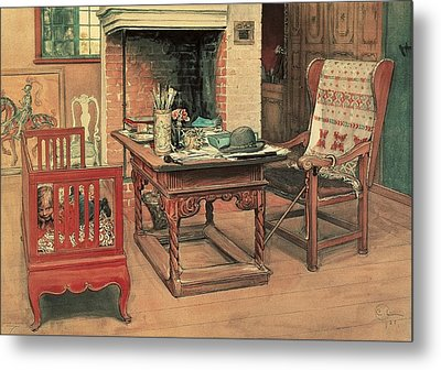 Hide And Seek Metal Print by Carl Larsson