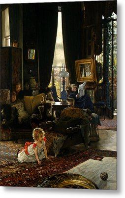 Hide And Seek Metal Print by James Tissot