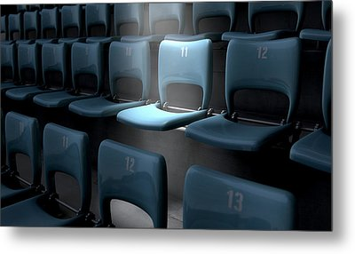 Highlighted Stadium Seat Metal Print by Allan Swart