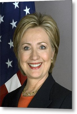 Hillary Clinton Metal Print by War Is Hell Store