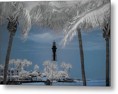 Metal Print featuring the photograph Hillsboro Inlet Lighthouse by Louis Ferreira