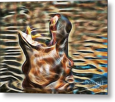 Hippo Metal Print by Marvin Blaine