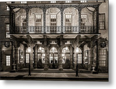 Metal Print featuring the photograph Historic Dock Street Theatre by Carl Amoth