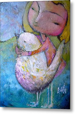 Metal Print featuring the painting Hold Your Peace by Eleatta Diver