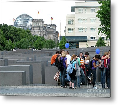 Metal Print featuring the photograph Holocaust Memorial Berlin by Erik Falkensteen