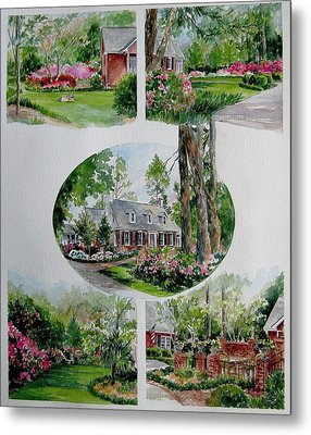 Metal Print featuring the painting Home Collage by Gloria Turner