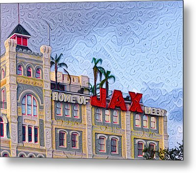 Home Of Jax Beer Metal Print by Bill Cannon