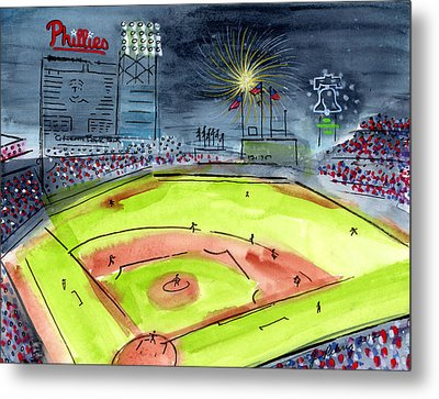 Home Of The Philadelphia Phillies Metal Print by Jeanne Rehrig