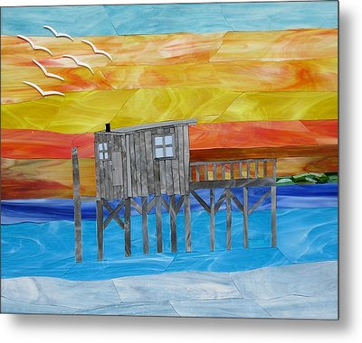 Honeymoon Sunset Metal Print by Charles McDonell
