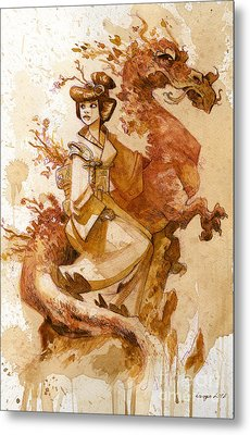 Honor And Grace Metal Print by Brian Kesinger